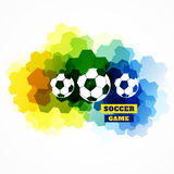 Colorful football design. Creative abstract football design Royalty Free Stock Photography