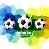 Colorful football design Royalty Free Stock Photos
