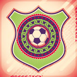 Colorful football poster. Stock Photos