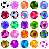 Colorful football set Stock Image