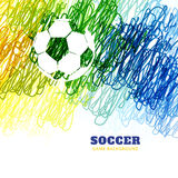 Colorful football vector. Colorful pencil scribble style football vector design Royalty Free Stock Photo