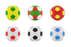 Colorful Football on a white background. Stock Photography