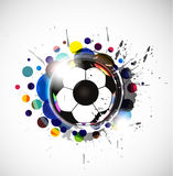 Colorful footballs Royalty Free Stock Photo