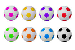 Colorful footballs Stock Photography