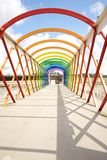 Colorful footbridge Royalty Free Stock Image