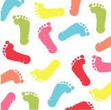 Colorful footprint Stock Image