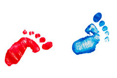 Colorful footprint stock photo