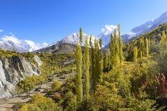 Autumn season in Hunza, Pakistan stock image