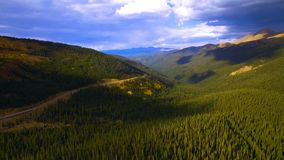 Colorful forest in Rocky Mountain National Park, Colorado, USA stock image