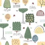 Forest seamless pattern. Vector illustration. vector illustration