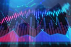 Colorful forex city background Stock Photography