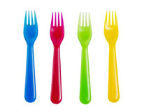 Colorful forks Royalty Free Stock Images