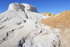 Colorful formation at the Breakaways Reserve, Coober Pedy, Australia. Royalty Free Stock Image