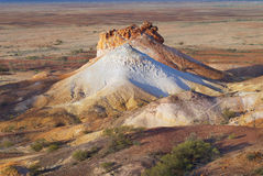 Colorful formation at the Breakaways Reserve at sunset, Coober Pedy, Australia. Stock Images