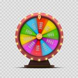 Colorful fortune wheel. transparent background. Colorful fortune wheel. isolated  on a transparent background . Vector illustration Royalty Free Stock Photos