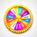 Colorful fortune wheel. transparent background. Colorful fortune wheel. isolated on white background. Vector illustration Stock Image