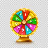 Colorful fortune wheel. transparent background. Colorful fortune wheel. isolated  on a transparent background . Vector illustration Stock Images