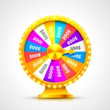 Colorful fortune wheel. transparent background. Colorful fortune wheel. isolated on white background. Vector illustration Royalty Free Stock Image