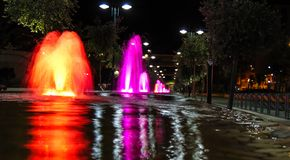Colorful Fountain. stock image
