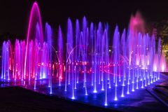 Colorful Fountain. In the city of Eilat - Israel royalty free stock images