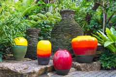 Colorful fountain jar Royalty Free Stock Photo