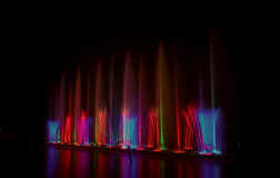 Colorful fountain Stock Photo