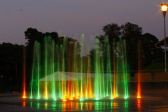 Colorful fountain Royalty Free Stock Photo