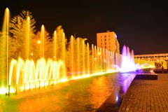 Colorful Fountain. Colorful fountain during the night Royalty Free Stock Image