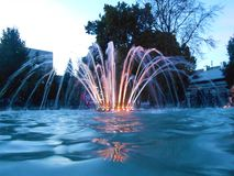 Colorful fountain in the night. Royalty Free Stock Image