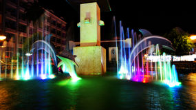 Colorful fountains. Stock Images