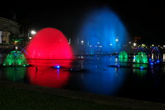 Colorful Fountains Royalty Free Stock Photo