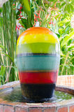 Colorful fountains jar Stock Photo