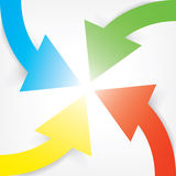 Colorful four arrows design Royalty Free Stock Image