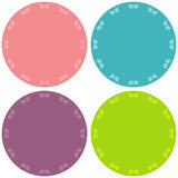 Colorful four blank stickers set. Royalty Free Stock Image