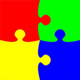 Colorful four pieces puzzle Royalty Free Stock Images