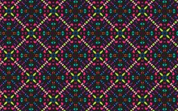 Colorful four sided symmetrical mandala pattern. Colorful mandala pattern. Vector repeating pattern of four sided symmetrical mandala design in vibrant colors Stock Image