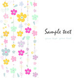 Colorful fowers decorative abstract greeting card. Vector Stock Image