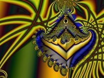 Colorful fractal. Colorful spiral fractal with lines Royalty Free Stock Images