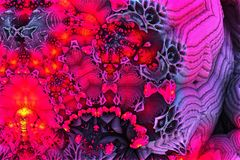 Colorful fractal background Royalty Free Stock Photos