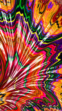 Colorful fractal background - digitally generated image Stock Photos