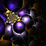 Colorful fractal on black background Royalty Free Stock Image