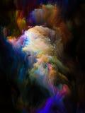 Colorful Fractal Brush Stock Photo