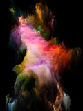 Colorful Fractal Brush Royalty Free Stock Images
