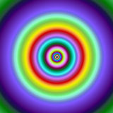 Colorful fractal circles target image. Royalty Free Stock Photography