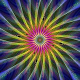 Colorful fractal design background. Colorful abstract computer generated vector fractal design background Stock Photos