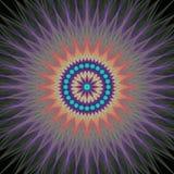 Colorful fractal design background vector. Colorful abstract mandala fractal design background vector vector illustration