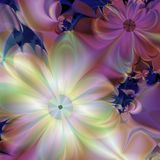 Colorful fractal Floral. Abstract graphic floral in pastels, created with digital software stock illustration
