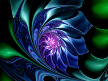 Colorful fractal flower Royalty Free Stock Photos