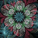 Colorful fractal flower. Digital artwork for creative graphic design Stock Image