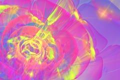 Colorful Fractal flower stock illustration